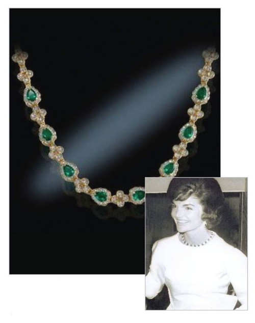 Emerald Drop Necklace President Presidential History