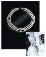 Jacqueline Jackie Kennedy Collection - Classic Look Triple-Strand Pearl Necklace - Photo Museum Store Company