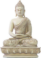 Nepali Buddha in Meditation Pose Statue, Stone - Photo Museum Store Company