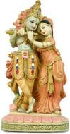 Krishna & Radha Statue, Hand Painted - Photo Museum Store Company