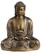 Japanese Buddha Statue, Bronze Finish - Photo Museum Store Company