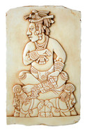 Mayan Tablet of The Slaves Wall Relief from Palenque Military Chief Photo Museum Store Company