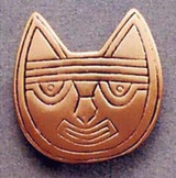 Pre-Columbian Cat Brooch - Peru, Paracas Culture 250 B.C to 125A.D. The Lowe Art Museum - Photo Museum Store Company