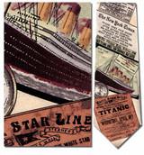 Titanic Necktie - Museum Store Company Photo