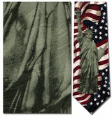 Statue of Liberty & American Flag Necktie - Museum Store Company Photo