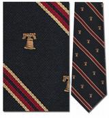 Liberty Bell Stripe Repp Necktie - Museum Store Company Photo