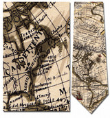 World Globe Map Necktie - Museum Store Company Photo