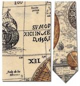 Antique Sun Dials Map Necktie - Museum Store Company Photo