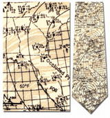 Weather Chart - Weather Map Necktie - Museum Store Company Photo