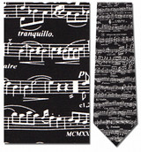 Classic Sheet Music- Violin Necktie - Museum Store Company Photo