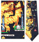 Lighthouses of the Mid Atlantic Necktie - Museum Store Company Photo