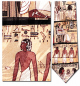 Egyptian Wall Relief Stele Necktie - Museum Store Company Photo