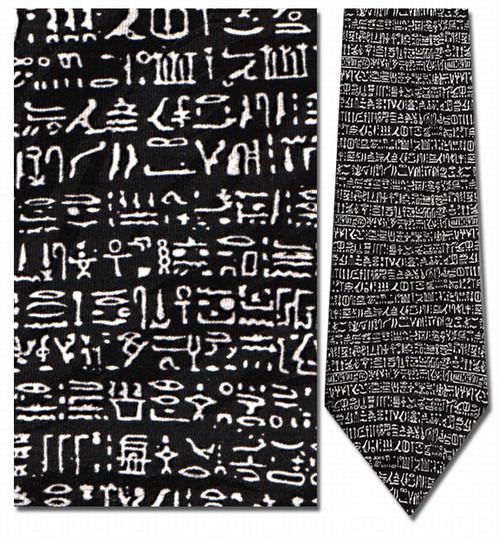 Hieroglyphics - The Rosetta Stone Necktie - Museum Store Company Photo