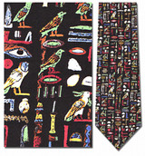 Egyptian Hieroglyphics Necktie - Museum Store Company Photo