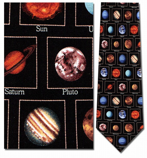 Planets With Names Necktie : Museum Shop Tie & History Gift