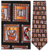 Hebrew Alphabet Necktie - Museum Store Company Photo