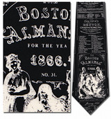 Boston Almanac - Old Ads, 1866 Necktie - Museum Store Company Photo