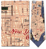 New York Sites & Map Necktie - Museum Store Company Photo