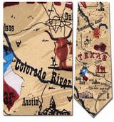 Texas Sites & Map Necktie - Museum Store Company Photo