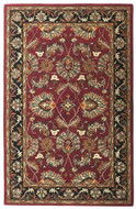 Agra - Burgundy / Black Rug : Persian Tufted Collection - Photo Museum Store Company