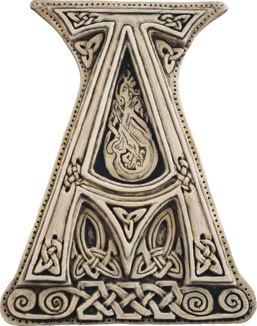 Manuscript Letter A Illuminated Ancient Ornate Irish