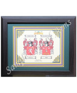 Personalized Double Coat of Arms for Couples - Walnut Frame 11x14 - Heraldry - Museum Store Company Photo