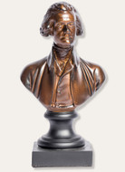 Thomas Jefferson Bust Bronze Finish - Museum Store Company Photo