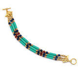 Egyptian Turquoise & Lapis Bracelet - Museum Shop Collection - Museum Company Photo