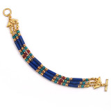 Egyptian Lapis & Turquoise Bracelet - Museum Shop Collection - Museum Company Photo
