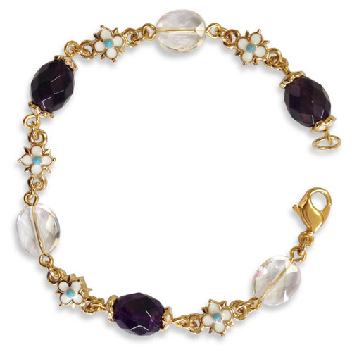 Elizabethan Amethyst &Crystal Bracelet - Museum Shop Collection - Museum Company Photo