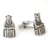 Lewis Chessmen King Cufflinks - Museum Shop Collection - Museum Company Photo