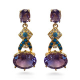 Post Amethyst Earrings - Museum Shop Collection - Museum Company Photo