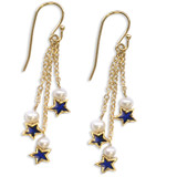 Star and Pearl triple drop Earrings - Museum Shop Collection - Museum Company Photo
