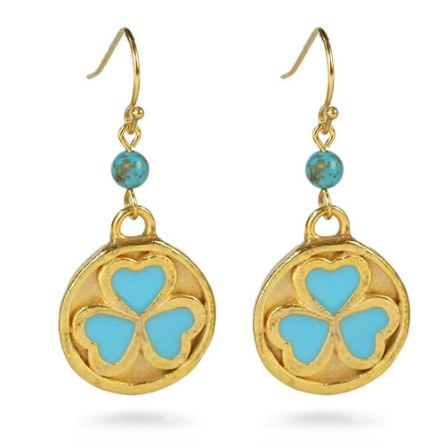 Bactrian 3 heart disc Earrings - Museum Shop Collection - Museum Company Photo