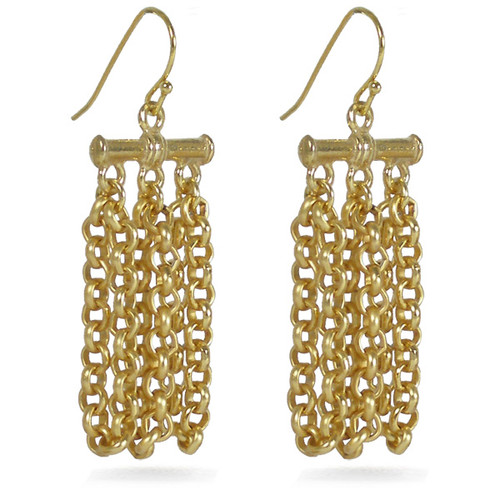 Himalayan Chain Earrings - Museum Shop Collection - Museum Company Photo