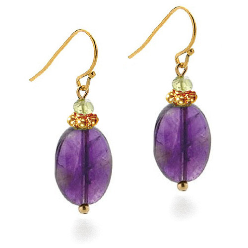 Classical Amethyst Drop Earrings - Museum Shop Collection - Museum Company Photo