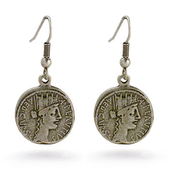 Roman Coin Earrings - Museum Shop Collection - Museum Company Photo