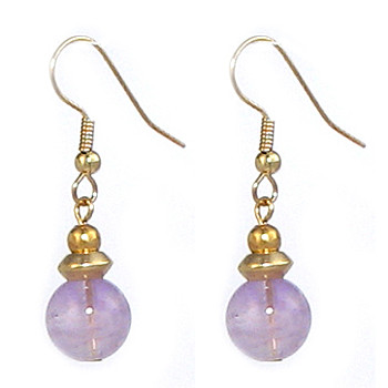 Tyrus Amethyst Drop Earrings - Museum Shop Collection - Museum Company Photo