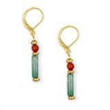 Cleopatra Aventurine Earrings - Museum Shop Collection - Museum Company Photo