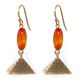 Pyramid Drop Earrings - Museum Shop Collection - Museum Company Photo