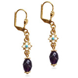 Elizabethan Amethyst Drop Earrings - Museum Shop Collection - Museum Company Photo