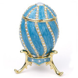 Teal Spiral Egg Box - Museum Shop Collection - Museum Company Photo