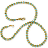Saucer Bead Necklace with Turquoise - Museum Shop Collection - Museum Company Photo