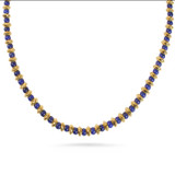 Saucer Bead Necklace with Lapis - Museum Shop Collection - Museum Company Photo