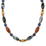 Mesopotamian Banded Agate & Lapis Necklace - Museum Shop Collection - Museum Company Photo