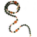 Jade and Carnelian Longevity Necklace - Museum Shop Collection - Museum Company Photo