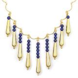 Petal Drop Necklace with Lapis - Museum Shop Collection - Museum Company Photo