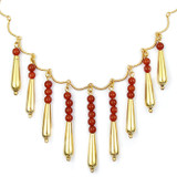 Petal Drop Necklace with Carnelian - Museum Shop Collection - Museum Company Photo