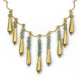 Petal Drop Necklace with Aventurine - Museum Shop Collection - Museum Company Photo