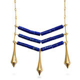 "Egyptian ""Teti"" Necklace, lapis, 30"" - Museum Shop Collection - Museum Company Photo"